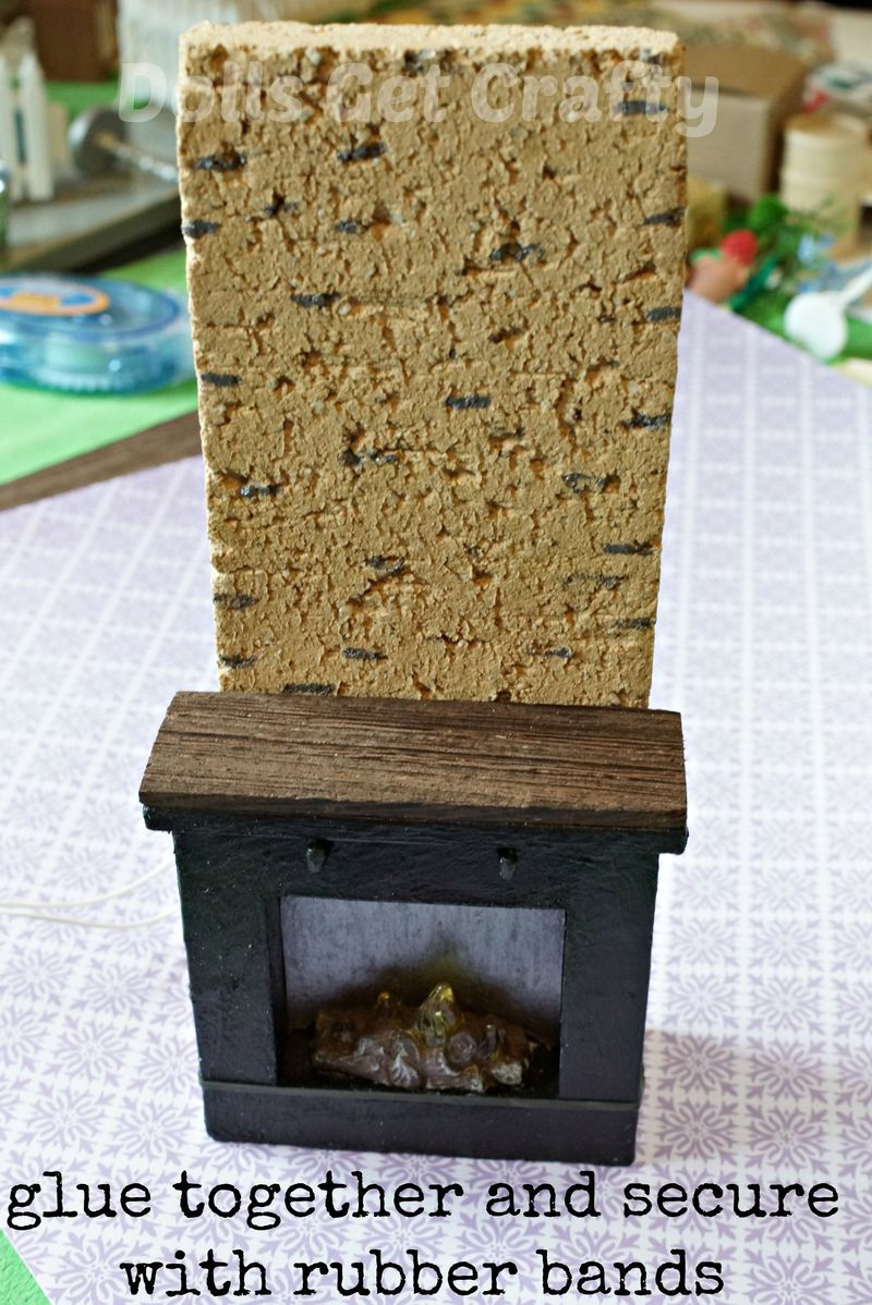 Lundby fireplace glued together