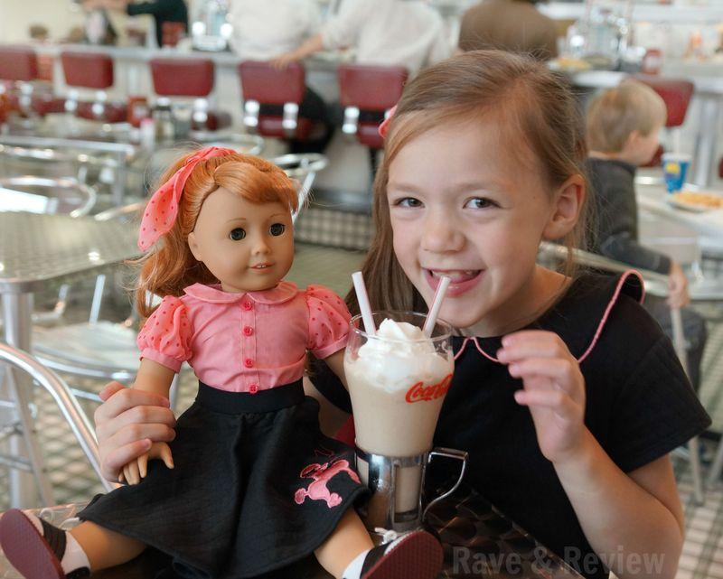 50s diner milkshake with Maryellen